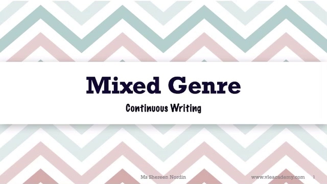 Secondary 4 English Mixed Genre