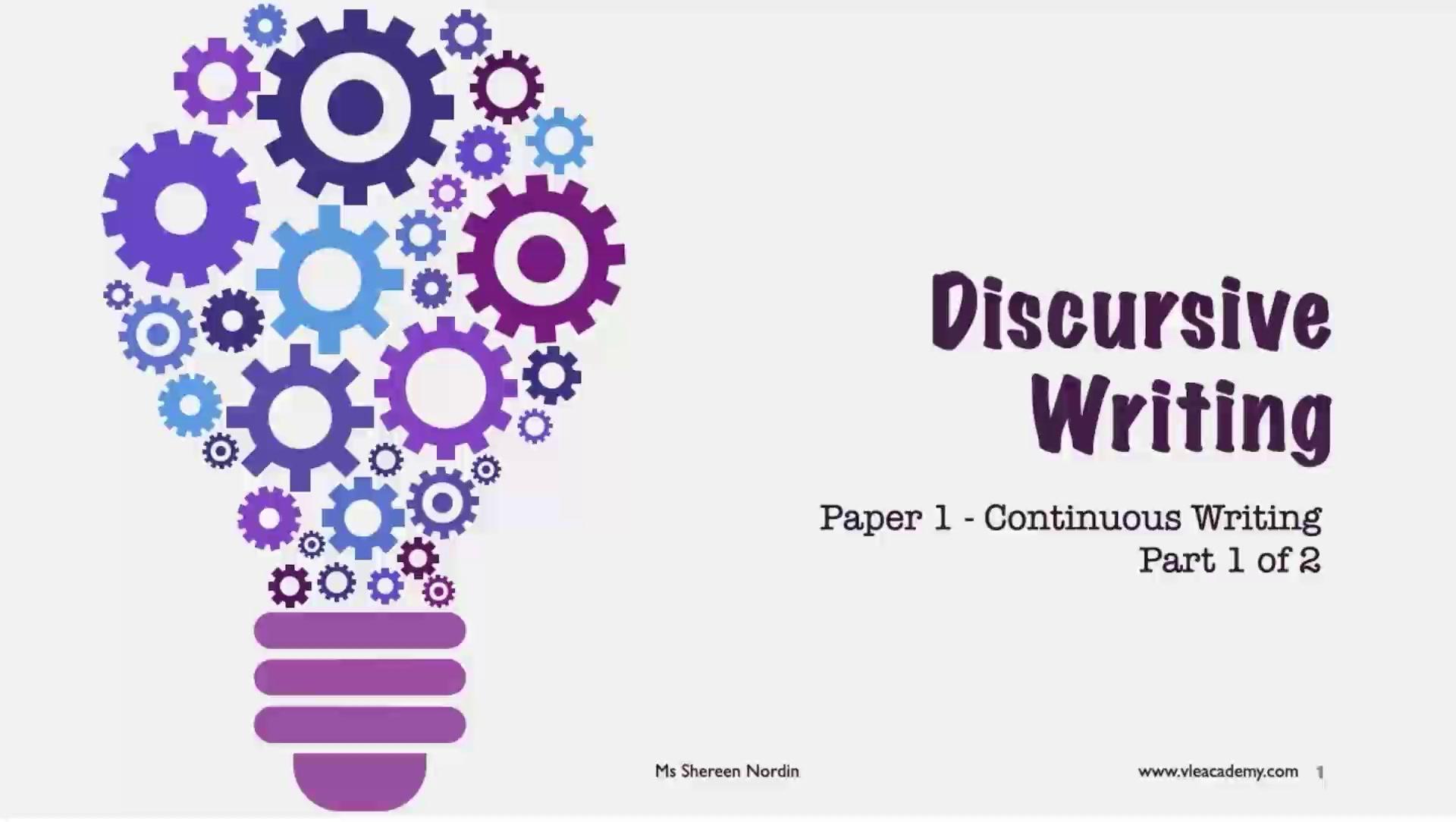 Secondary 3 English Discursive Part 1
