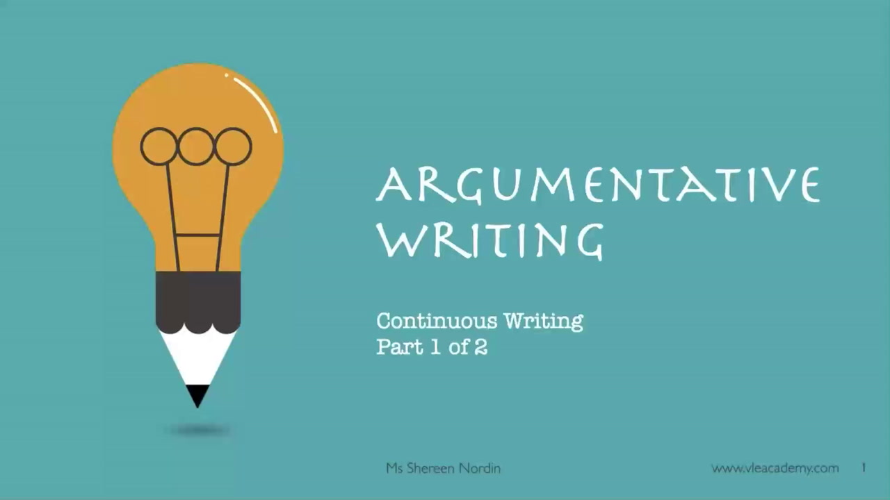 Secondary 4 English Argumentative Part 1