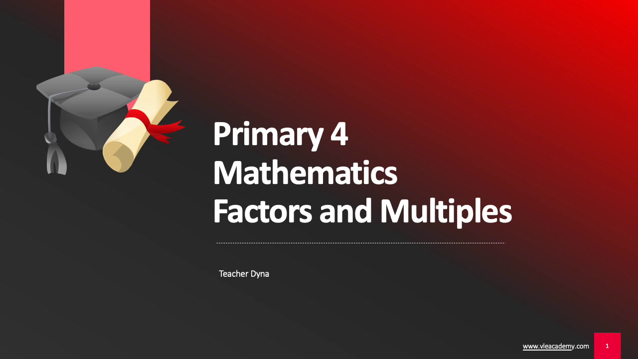 Primary 4 Maths (Factors and Multiples)