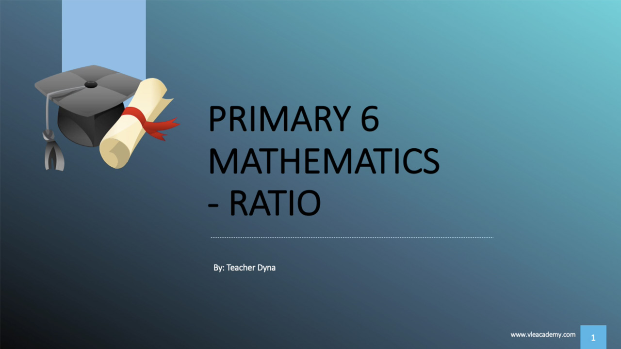 P6 Maths Ratio