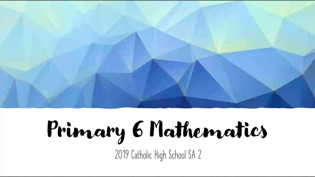 Primary 6 Maths Pass Year Exam Review