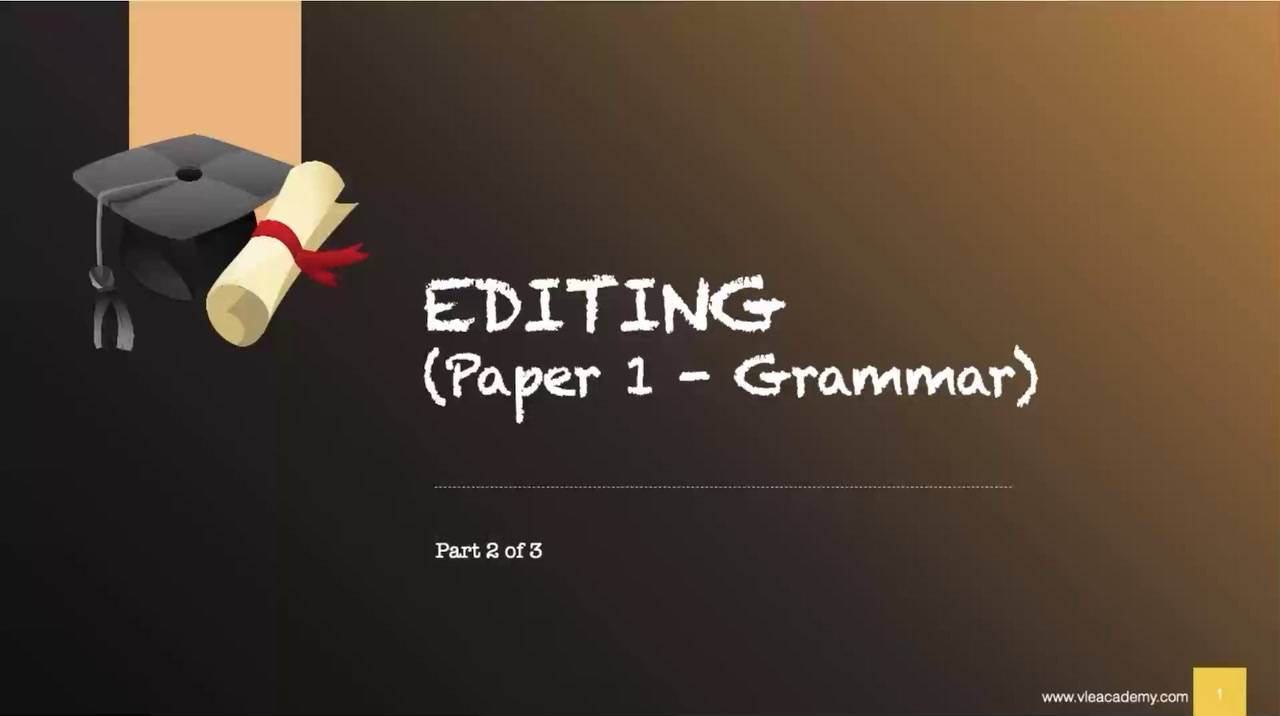 Secondary 1 English Editing Part 2