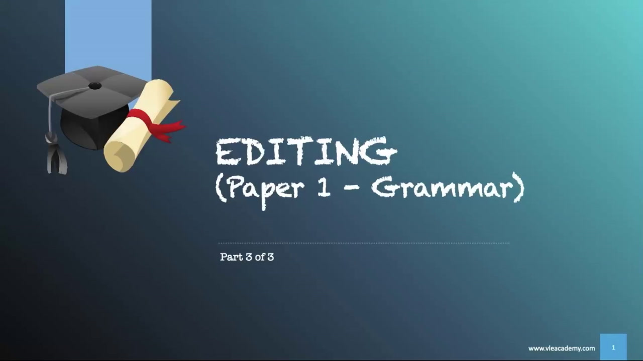 Secondary 1 English Editing Part 3